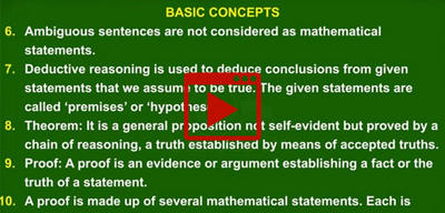 Basic concepts of Proofs in Mathematics-class-10th