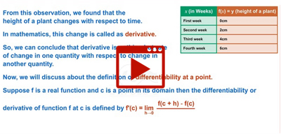 Basic concepts of Derivatives-class-11th