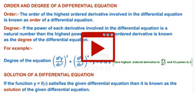 Differential Equations-class-12th