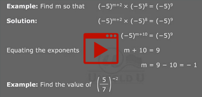 Laws of exponents Example -1-class-8th