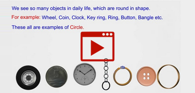 Real life examples of circle (activity)-class-9th