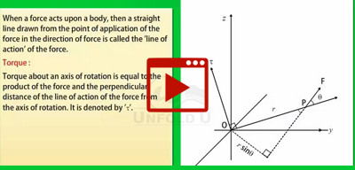 Torque and Angular Momentum-class-11th